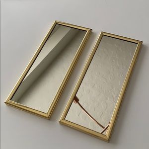Vintage Set of 2 Gold Framed Mirrors 80s 90s